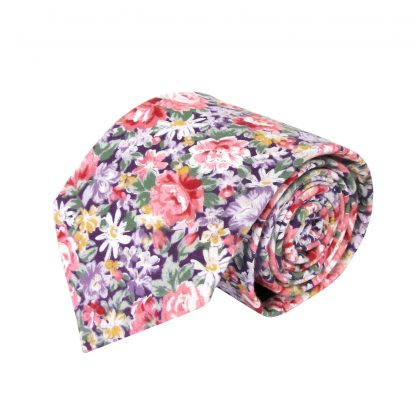 Purple, Pink Floral Men's Tie 11325-0