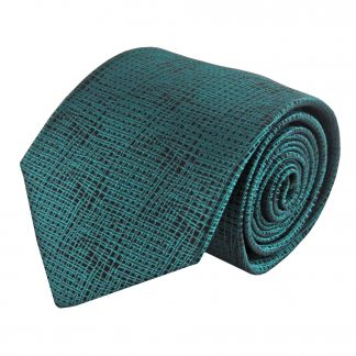 Teal, Black Small Criss Cross Men's Tie 9386-0