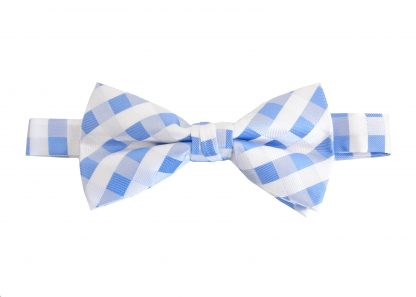 Blue, White Criss Cross Banded Bow Tie 6838-0