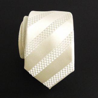 Cream Tone on Tone Skinny Men's Tie w/Pocket Square 8809-0