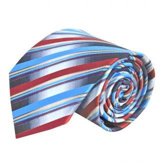 Gray, Black, Rust Stripe Men's Tie 8959-0