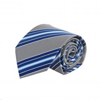 Gray, Blue Stripe Men's Tie 8864-0
