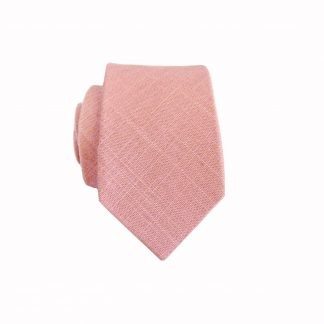 Mauve Solid Cotton Skinny Men's Tie 7675-0