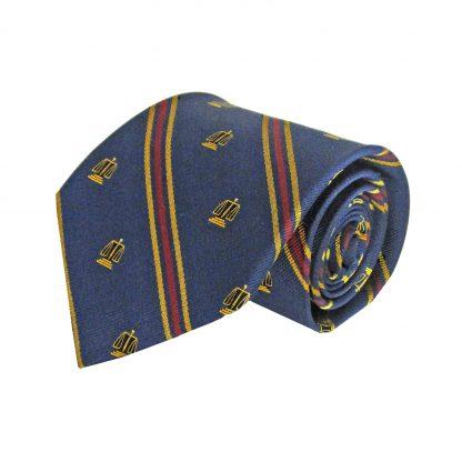 Navy, Gold Legal Scales Stripe Men's Tie 6270-0