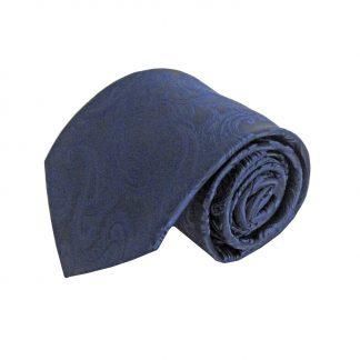 Navy Tone on Tone Paisley Men's Tie w/Pocket Square 1668-0