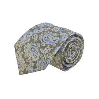 Olive, Blue Paisley Men's Tie 8196-0