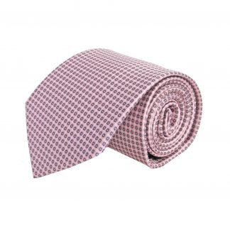 Pink, Gray Small Square Pattern Men's Tie 6475-0