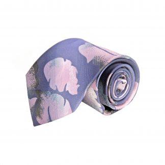 Purple, Pink, Gray Floral Men's Tie 10253-0