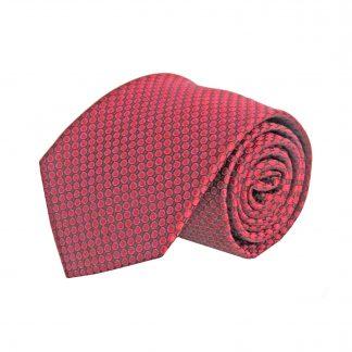 Red, Black Dots Men's Tie 8684-0