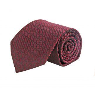 Red, Black Small Geometric Men's Tie 1521-0