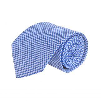 Royal Blue, Silver Small Herringbone Pattern Men's Tie 9189-0