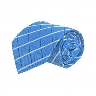 Royal Blue, White Criss Cross Men's Tie 8710-0