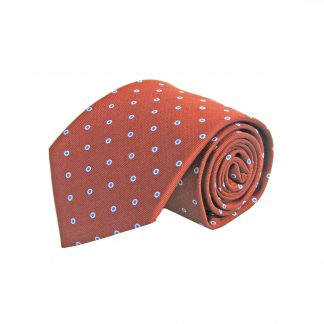 Rust, Blue Dot Men's Tie 7700-0