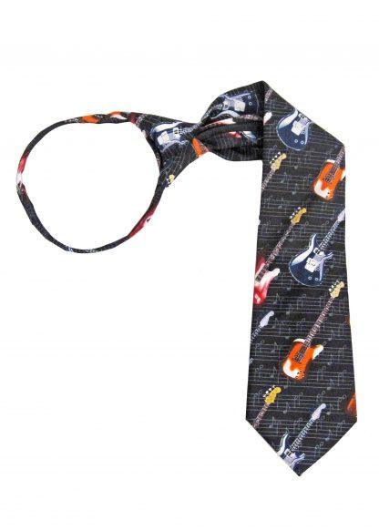 """Boy's 14"""" Guitar Zipper Tie 5093-0"""