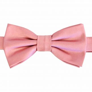 Boy's Mauve Solid Banded Bow Tie w/Pocket Square 2304-0