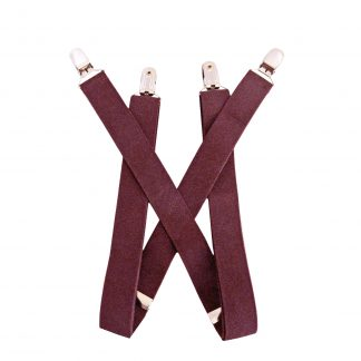 "Burgundy Solid 1 x 30"" Kids Suspenders 9774-0"