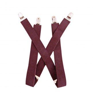 """Burgundy Solid 1 x 30"""" Kids Suspenders 9774-0"""