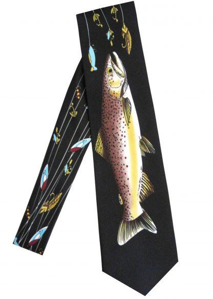 Fish & Lures Black Men's Tie 3066-0