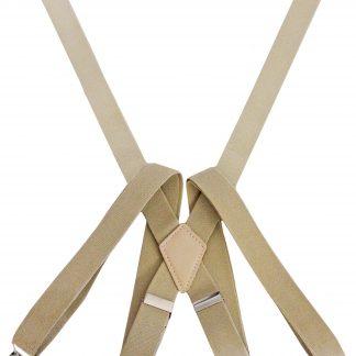 Khaki Solid Suspenders 7569-0