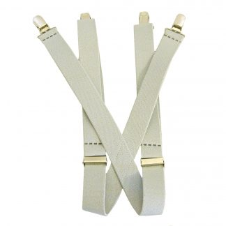 "Light Gray Solid 1 x 30"" Kids Suspenders 10227-0"