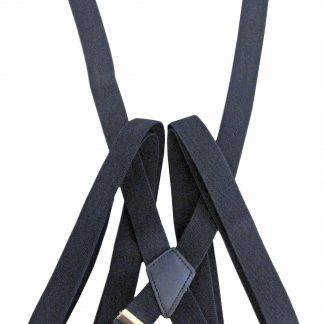 Navy Solid Suspenders 11205-0