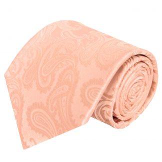 Peach Tone on Tone Paisley Men's Tie 10254-0