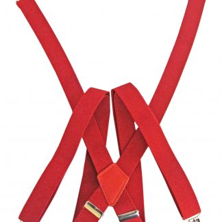 Red Solid Suspenders 6105-0