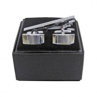 Silver Tie Bar and Cufflink Set 2934-0