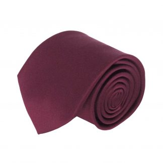 Wine Solid Men's Tie 1214-0
