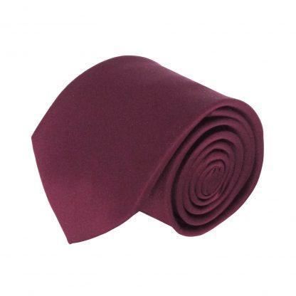 Wine Solid Men's Tie 1214-0