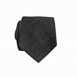 Black Tone Tone Criss Cross Skinny Men's Tie w/Pocket Square 1728-0