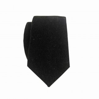 Black Velvet Skinny Men's Tie w/Pocket Square 7352-0
