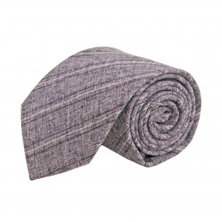 Charcoal, Pink Marled Stripe Cotton Men's Tie 8365-0