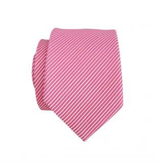 Hot Pink, White Pinstripe Skinny Men's Tie 6790-0