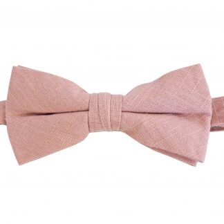 Mauve Solid Texture Cotton Banded Bow Tie 2893-0