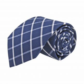 Navy, White Criss Cross Cotton Men's Tie 7620-0