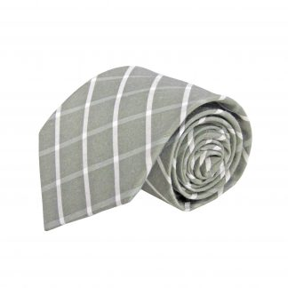 Olive, White Criss Cross Cotton Men's Tie 4585-0