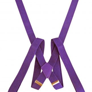 Purple Solid Suspender 8817-0