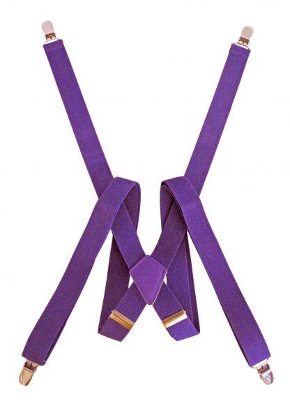 Purple Solid Suspender 8817-0