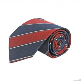 Red, Navy Wide Stripe Men's Tie 7563-0