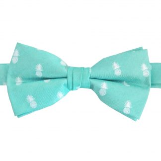 Tiffany Blue Pineapple Banded Bow Tie 3507-0