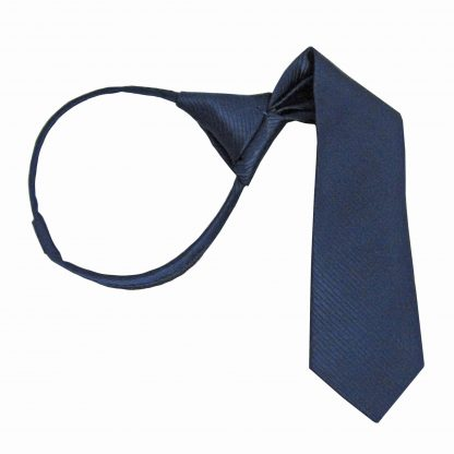 "11"" Boy's Navy Tone on Tone Zipper Tie 7301-0"