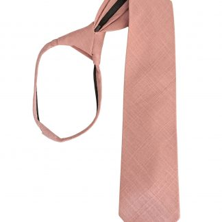 "17"" Boy's Zipper Mauve Solid Textured Tie 4415-0"