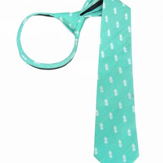 "17"" Tiffany Blue Pineapple Zipper Tie 3516-0"
