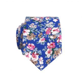 Royal, Khaki Floral Skinny Men's Tie 10207-0