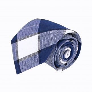 Blue, White Large Block Men's Tie 5214-0