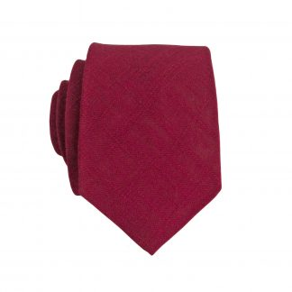 Burgundy Textured Solid Skinny Men's Tie 5956-0