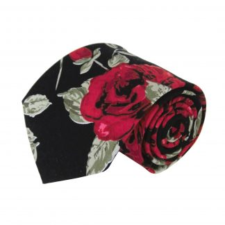 Black, Olive, Red Floral Men's Tie 4395-0