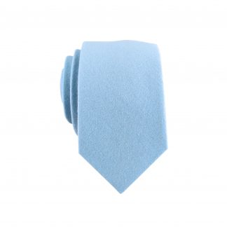 Light Blue Solid Skinny Men's Tie 1642-0