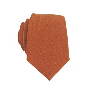 Rust Marled Solid Skinny Men's Tie 10752-0